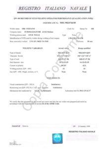 patente RI.NA. WPQ UNI EN diametri 13-16-19