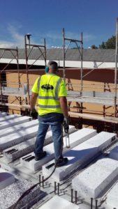 saldatura connettori con testa edificio scolastico Modena
