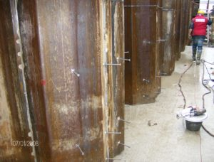 saldatura connettori con testa su palancolati zona Venezia Marghera crteurosaldature_com