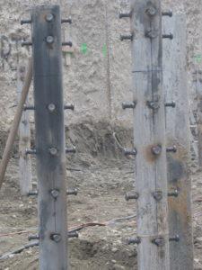 saldatura connettori con testa su pali fondazione parcheggio sotterraneo Milano crteurosaldature_com