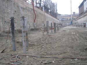 saldatura connettori con testa su palo fondazione parcheggio sotterraneo Milano crteurosaldature_com