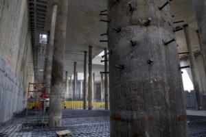 saldatura connettori con testa colonne di fondazione grattacielo di Torino crteurosaldature_com