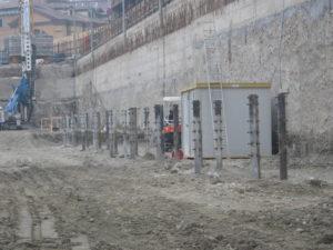 saldatura pioli con testa su palo fondazione parcheggio sotterraneo Milano crteurosaldature_com